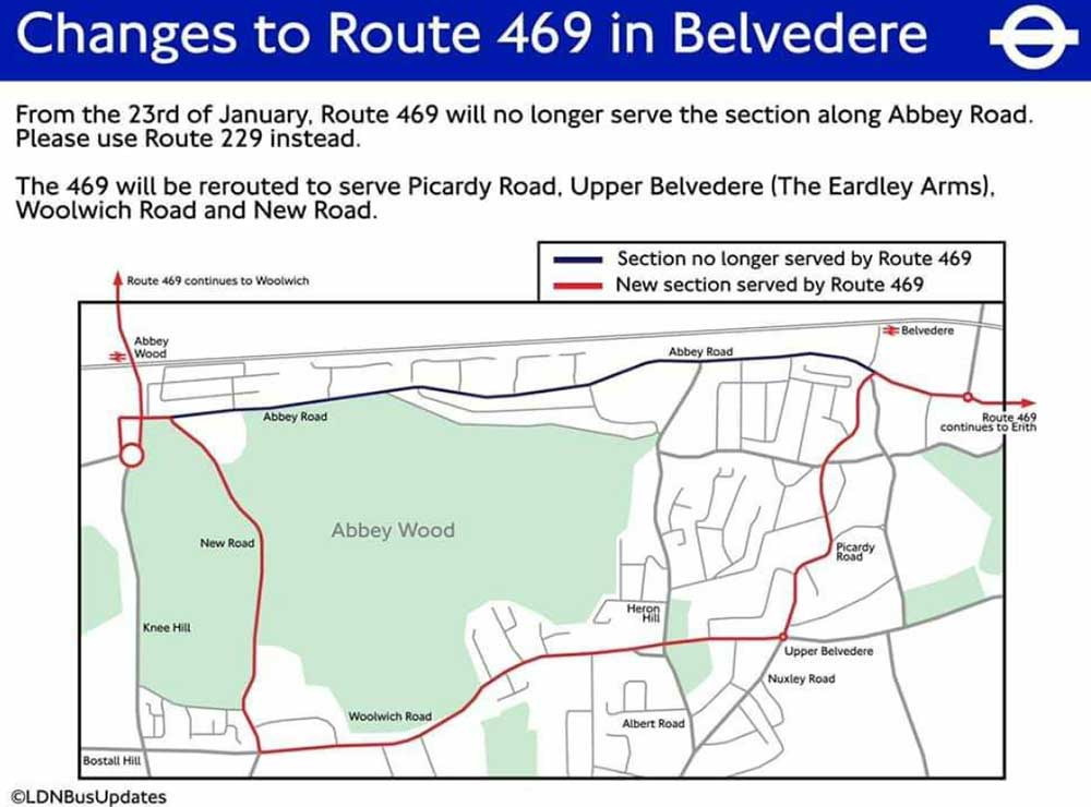 469 route revisions